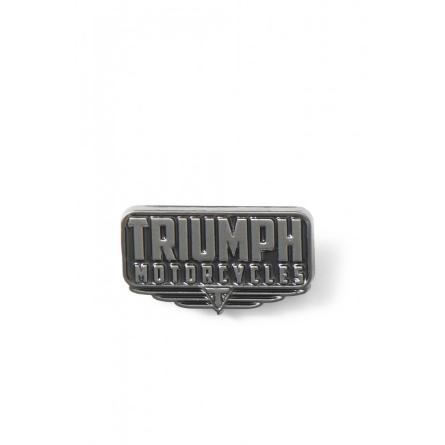 TRIUMPH BLK PIN BADGE X1